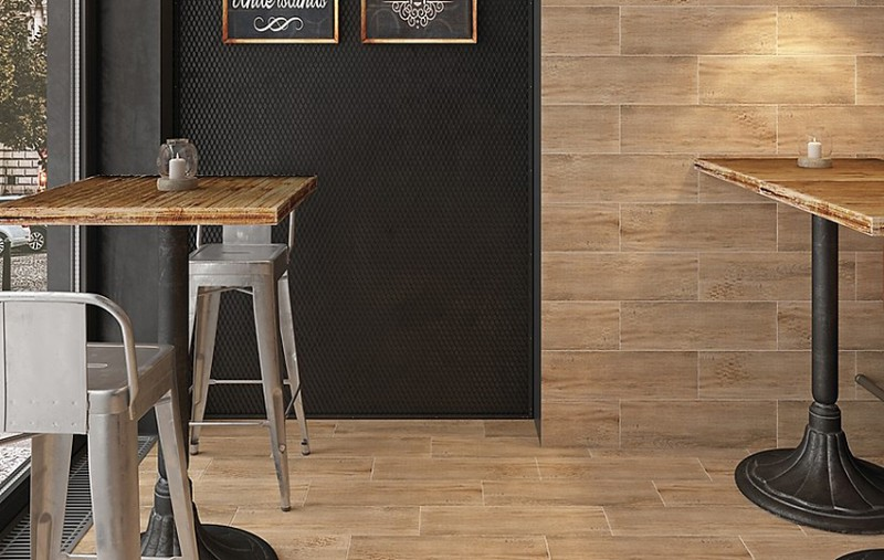 Плитка Industrialwood Cersanit в интерьере